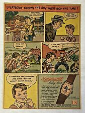 1947 Ingersoll cartoon ad page ~ MICKEY MOUSE WATCH