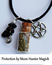 Protection Charm Spell Bottle Necklace© 20+ years exp. Pagan Lot Wiccan Witch