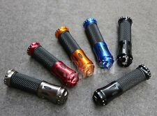 "7/8"" Carbon Fiber Handlebar Hand Grips Bar Ends For Honda Motorcycle 5Color 22mm"