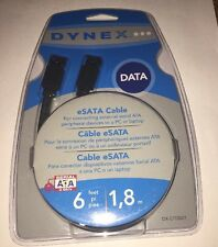 Dynex ESata Cable 6 ft foot 1,8 M Supports 3 GBPS EXTERNAL SERIAL ATA DX-C113221