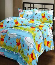 SA Collection's Pooh PolyCotton Single Bedsheet with 1 Pillow Cover