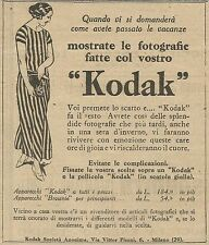 W5807 Mostrate le foto fatte col vostro Kodak - Pubblicità 1924 - Advertising