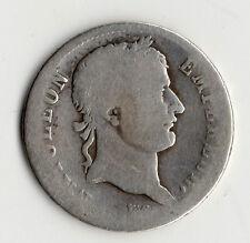 TRES RARE MONNAIE 1 FRANC NAPOLEON EMPEREUR EN ARGENT DE 1812 H @ LA ROCHELLE !!