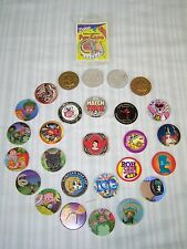 LOT OF POGS AND SLAMMERS ALADDIN POWER RANGERS LUCKY CHARMS DEL TACO MILK CAP