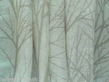 Harlequin Curtain Fabric TABELLA 3.4m Tree Silhouette 100% Linen Voile - Chalk