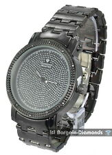 "mens .12 carat diamond ice out watch 50 mm bezel 8.5"" link bracelet master"