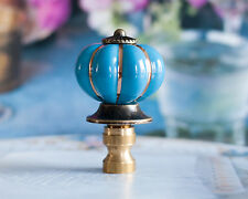 1 of Blue Porcelain Lamp Shade Finial, Fit Standard Harp Threads.