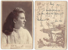 CABINET CARD Photograph Young Lady by Lawrie of Lucknow India