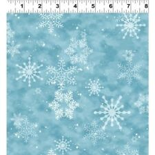 CREATURE COMFORTS BLUE SNOWFLAKES FABRIC