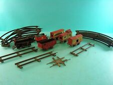 EARLY ANTIQUE WIND UP LOCOMOTIVE TRAIN TOY SET OVERLAND FLYER HAFNERS RAILWAYS