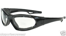 MOTORCYCLE GLASSES GOGGLES CLEAR LENSES SPORTS MOTOR BIKE MENS