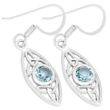 Blue Topaz 925 Sterling Silver Earrings Jewelry E2197B