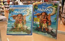 Moana (Blu-ray/DVD, 2017, 2-Disc Set, Includes Digital Copy) BRAND NEW SEALED !!