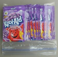 20 packets of KOOL-AID drink mix: GRAPE flavor, powdered, UNSWEETENED, beverage