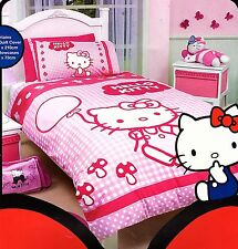 Hello Kitty Pink/White Double Size Quilt Cover Set New