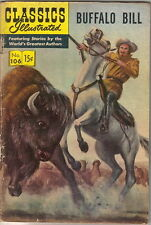 Classics Illustrated Comic Book #106 Buffalo Bill, HRN 161 Edition #5 VERY GOOD+