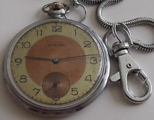 VERY RARE-INVAR SUPER--SWISS POCKET WATCH MEN,S