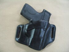 Springfield XDS 9mm / .40 / .45 OWB Leather 2 Slot Pancake Belt Holster CCW BLK