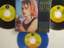 LOT OF 4 ' MADONNA ' HIT 45's+1PS Crazy For You]        THE 80's!