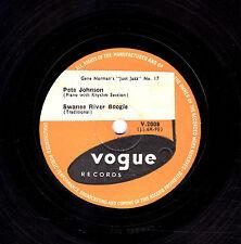 "RARE PETE JOHNSON 78 "" SWANEE RIVER BOOGIE / ST LOUIS BOOGIE "" UK VOGUE V2008 E-"