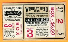 CUBS/TIGERS-TRULY SCARCE-1935 WORLD SERIES GM #3 TICKET STUB-NO CREASES-WRIGLEY
