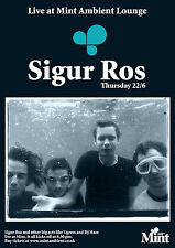 SIGUR ROS 2017 UNITED KINGDOM CONCERT TOUR POSTER - Post-rock, Ambient Music