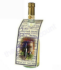 Set of 12 Wine Bottle Gift Tags, Labels, with To & From, Perfect for Christmas!