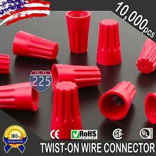 10000 Red Twist-On Wire GARD Connector Conical nuts 18-10 Gauge Barrel Screw US