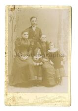 19th Century Family - 1800s Cabinet Card Photograph - Dover, NH