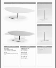 Natuzzi Roulette Cream Glass Topped Side Table