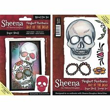 SHEENA DOUGLASS PERFECT PARTNERS DAY OF THE DEAD SUGAR SKULL DIE & STAMP SET