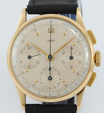 ANTIQUE JAEGER CHRONOGRAPH 18K YELLOW GOLD WATCH