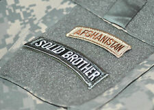 USMC FORCE RECON RANGERS DEATH SNIPER INFIDEL VELCRO TABS: AFGHAN SOLID BROTHER