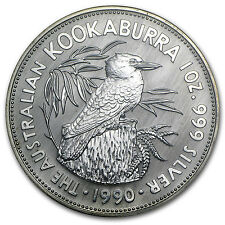 1990 1 oz Silver Australian Kookaburra - Brilliant Uncirculated - SKU #9029