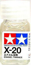 O TAMIYA COLOR FLAT ENAMEL PAINT NEW 10ML X-20 ENAMEL THINNER AU
