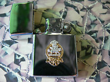 Army Military Regimental Lighter With Queens Regiment On Front Version 1