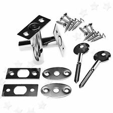 New 2x Security Door Iron Bolts Secure Strong Deadbolt Rack Bolts With Fitting