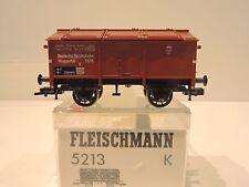 Fleischmann 5213 K. Klappdeckelwagen  !!RP 25 Speichenräder!! TOP!!! OVP