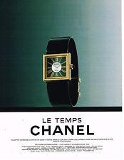 PUBLICITE ADVERTISING 074  1991  CHANEL  boutique  bijoux  LE TEMPS  montre