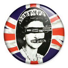 "Sex Pistols 25mm 1"" Pin Badge Button Rotten Punk Rock Lydon God Save The Queen"