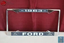 1963 Ford Car Pick Up Truck Front Rear License Plate Holder Chrome Frame New