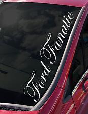 Ford Fiesta Focus RS fanático del parabrisas St Zetec Vinilo Autoadhesivo con escolta