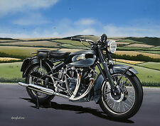Vincent Black Shadow Motorcycle A3 size Limited Edition Print