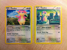 Pokemon TCG 2x Audino cartes, b&w Emerging Powers, b&w Dragons Exalted