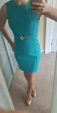 NWT Versace Collection Medusa Clasp turquoise dress size 40 US 4 6