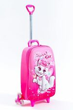 Kid's Trolley Roller Bag Girl's Cat 3D Rolling Suitcase Luggage not Backpack