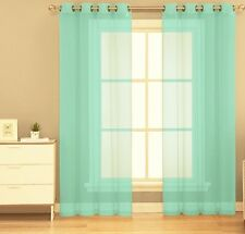 1 PC GROMMET VOILE SHEER PANEL WINDOW CURTAIN TREATMENT DRAPE NEW LOOK