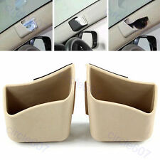2 X Car Pillar Pocket Holder Box Cigarette Cellphone Sunglass Holder Beige