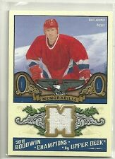 2011 Upper Deck Goodwin Champions Igor Larianov Game Used Jersey Card
