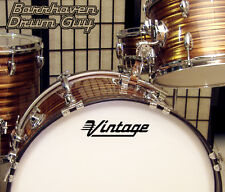Vintage, Generic Brand, vinyl, Adhesive, Repro Logo Decal for Bass Drum Head